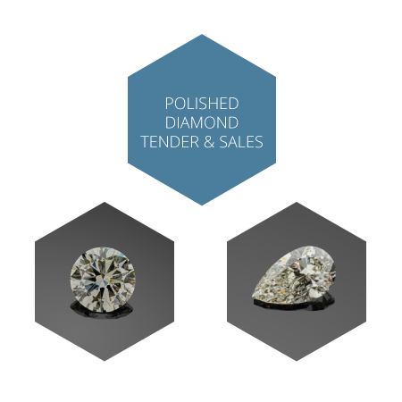 Polished diamond tenders & sales