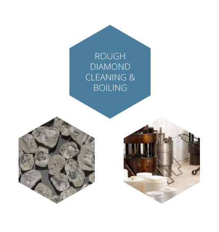 Rough Diamond Cleaning & Boiling